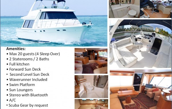 55' Bayliner Luxury Yacht Caymans