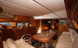 74′ Power Catamaran Internal stateroom