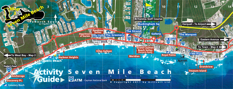 Seven Mile Beach Grand Cayman Map The Best Beaches In World